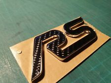 FOCUS RS CARBON FIBRE BADGE INLAY MK2 MK3 NO BADGE INC HYBRID TURBO RECARO REMAP