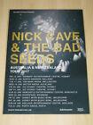 Nick Cave & The Bad Seeds - 2017  Australian Tour - Laminated Promo Tour Poster