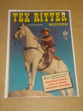 TEX RITTER WESTERN #7 FN (6.0) FAWCETT COMICS OCTOBER 1951