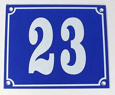 """ALLUMINIO NUMERO CIVICO """" 23 """" 12x10cm blu numero casa rapido lieferbar"""