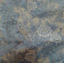 Japanese vintage kimono silk fabric Tsumugi Peonies