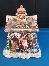 Fitz & Floyd Santa's Railroad Station Gingerbread Depot Music Box Jingle Bells