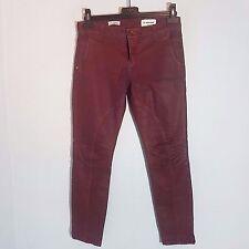 """Rich & Royal señora elásticos-jeans """"Skinny Biker"""" talla 28 rojo oscuro look usado"""