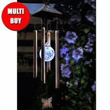 Changing Garden Solar Powered Wind Chime with Light Outdoor Gift x 2 Multi Buy