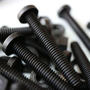 20x Black Screws Plastic Nuts & Bolts, Washers,M6 x 40mm, Anti-Corrosion