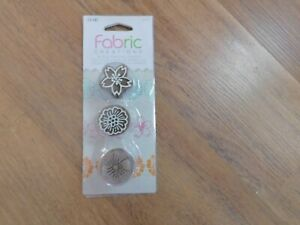 NEW Fabric Creations Block Printing Stamps 26972 Floral Nature  Set
