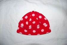 F&F Red Spotted Beanie Hat Fleece Age 4-8 Years BNWT