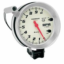 "Equus 8080 Tachometer 5"" 0-10,000 RPM White Dial Face w/Shift Light & Recall"