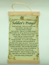 Soldiers Prayer, Hand Made 100% Cotton Canvas Wall Print, 8x12, cream background