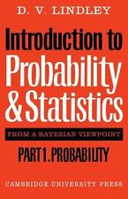 Introduction to Probability and Statistics from a Bayesian Viewpoint, Part 1, Pr