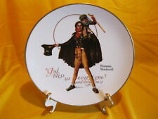 Norman Rockwell Tiny Tim God Bless Us plate - Gorham Excellent in Original Box