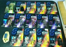 15 LOT Star Wars ACTION FIGURES POTF red Shadows of the Empire Long open sabers