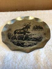 Moose Motif Tin Trinket Dish