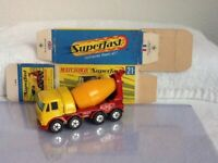 Vintage Matchbox Superfast Transitional #21 FODEN CONCRETE TRUCK