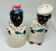 "Vintage ""Mammy and Chef"" Salt and Pepper Shakers Japan"