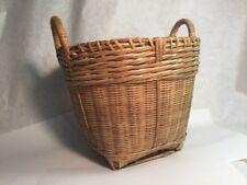 Japanese Vintage Bamboo Basket Woven Vase Ikebana Flower Bskt Handcraft
