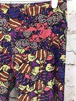 LuLaRoe LLR OS Leggings Hard Candy Sweets Print Pink Purple One Size