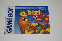 Q*bert Nintendo Game Boy Video Game Manual Only