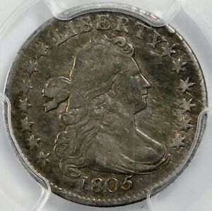 PCGS VF25 1805 BUST DIME 4 BERRIES