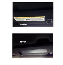 2016-2017 6th Gen Camaro Visor Decal Warning Label Covers for Sunvisor