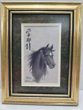 Horse Sketch Drawing By Karl J Feng 1996 Signed and Framed Numbered 191/1000 EUC