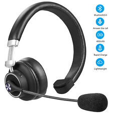 Wireless Bluetooth Headset with Mic Noise-Canceling Office Headphones Trucker