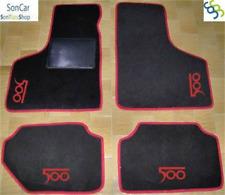 FIAT 500 d'epoca TAPPETI tappetini AUTO + 4 decori