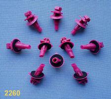 (2260) 10x BARRE ornamentali parentesi per Toyota/Lexus Klip PER BARRE ornamentali Magenta