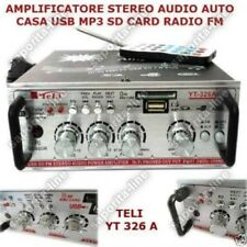 AMPLIFICATORE HIFI AUDIO 12V 220V USB SD MP3 FM RADIO PER PC DVD IMPIANTI STEREO