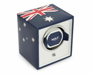 WOLF Navigator Australian Flag Single Cub Watch Winder - Free US Shipping