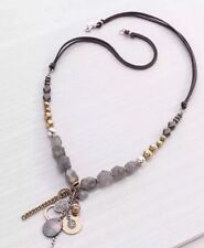 ❤️Silpada Ethereal Necklace Sterling Silver Labradorite Pyrite Brass N3244 NWT