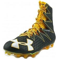 New listing New Under Armour Highlight MC Football LAX Cleats Black Yellow Mens Size 9