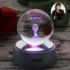 Michael Jackson 3D DEL boule de cristal décor nuit table lumineuse lampe de bureau cadeau RGB