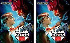 Street Fighter Alpha 2 Upright Arcade cabinet decal set