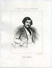 Antique Print-LEON GOZLAN-PLAYWRIGHT-AUTHOR-Alophe-ca. 1845
