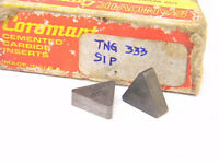 NEW SURPLUS 10PCS. SANDVIK  TNG  333  GRADE: S1P  CARBIDE INSERTS
