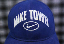 12e6c9dc Vintage NIKE TOWN USA Hat Blue Velcro StrapBack Hype Round Two Wotherspoon  Cap