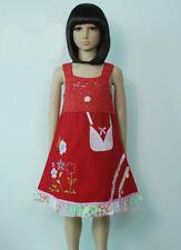 Algodón Chica Fiesta Vestido Rosa Fucsia Rojo Verde Blanco Azul 9 Meses A 3 Años