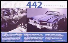 1969 Oldsmobile 442 Convertible W-32 Postcard, MINT