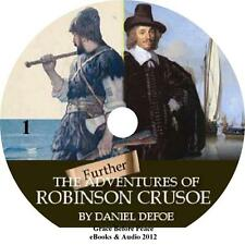 Further Adventures of Robinson Crusoe, Daniel Defoe Audiobook Fiction 1 MP3 CD