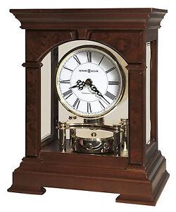 635-167  STATESBORO HOWARD MILLER   MANTEL CLOCK  IN CHERRY BRODEAUX FINISH