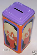 Looney Tunes Yosemite Sam Metal Money Tin / Box / Bank New