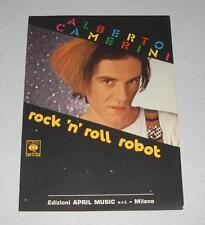 Spartito ALBERTO CAMERINI Rock 'n' roll robot OTTIMO 1981 Songbook Spartiti