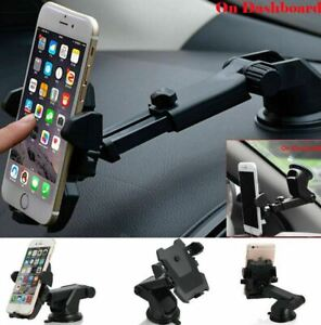 For Mobile Cell Phone GPS 360° Mount Holder Car Windshield Stand