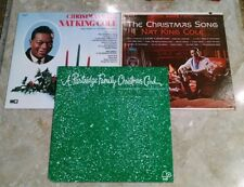 (Lot of 3) CHRISTMAS RECORDS NAT KING COLE FRED WARING PARTRIDGE FAMILY LP'S