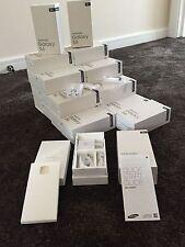 Caja de embalaje al detalle vacío para SAMSUNG GALAXY S6 ** ** Negro y accesorios del Reino Unido Plug