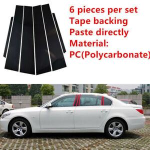 6PCS Set Door Trim Pillar Posts Fit For BMW 5 Series E60 Sedan 4-Doo 2004-2010