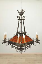 Lustre suspension style gothique Viollet-Le-Duc