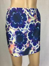 ** BILLABONG ** NWT $39.95 * Sz 10 Purple Floral Take Two Lycra Skirt - (A376)