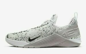 New Men's Nike React Metcon White/Black-Grey BQ6044 100 size 10